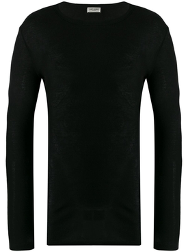 long sleeve ribbed T-shirt BLACK