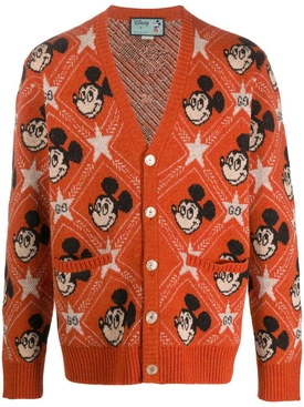 Gucci X Mickey wool cardigan ORANGE/MULTICOLOR