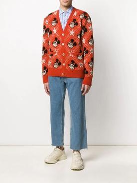 Gucci X Mickey wool cardigan ORANGE MULTICOLOR