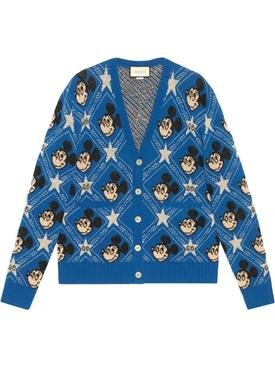 Gucci X Mickey wool cardigan AZURE/MULTICOLOR