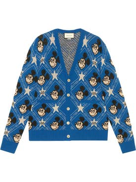 Gucci - Gucci X Mickey Wool Cardigan Azure/multicolor - Men