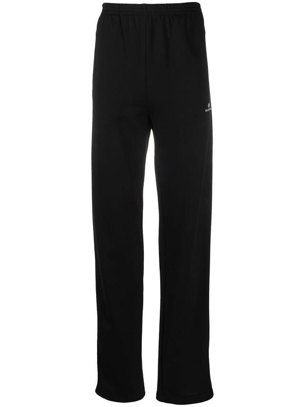 Balenciaga Logo Black And White Track Pants