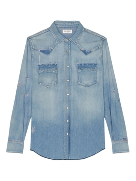 Saint Laurent - Classic Western Denim Shirt Blue - Men