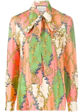 Gucci - Multicolor Pussybow Shirt - Women