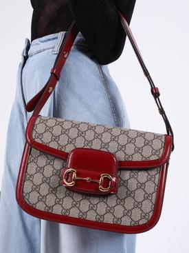 1955 Horsebit Azalea Bag Red