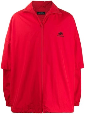 Balenciaga - Red Double Sleeve Jacket - Short