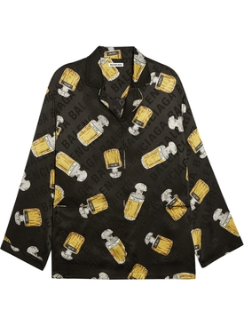 Silk Perfume Bottle Pajama Shirt