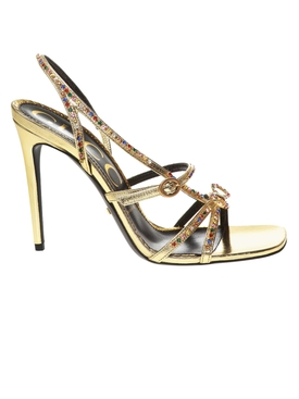 Gold Multicolored Embellished Sandal