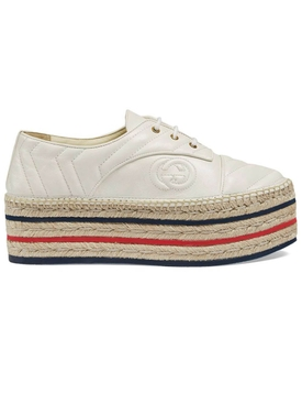 White Platform Espadrille Sneaker