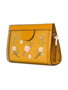 Floral Embroidered Shoulder Bag SENAPE MULTICOLOR