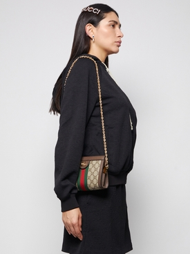 Ophidia mini shoulder bag Brown