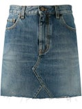 Saint Laurent - Blue Denim Mini Skirt - Women