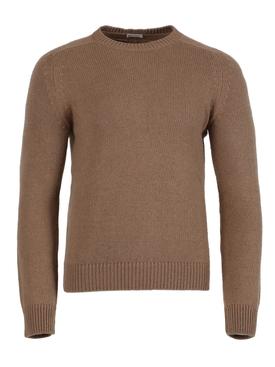 Cashmere Crewneck Sweater, Camel