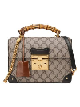 Gucci - Small Bamboo Padlock Logo Bag - Women