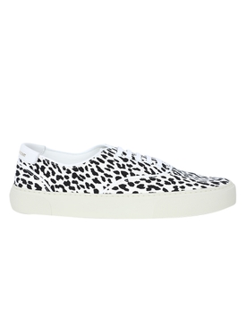White and black animal print Venice sneaker