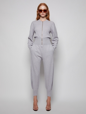 FOREVER STELLA ALL IN ONE KNIT JUMPSUIT PALE GREY