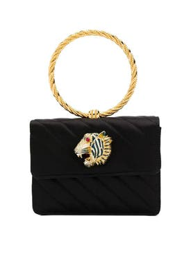Gucci - Circle Handle Quilted Handbag Black - Women