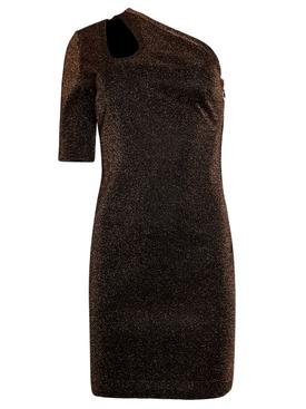 Darla Metallic Lurex Dress Bronze
