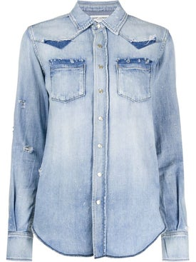 Saint Laurent - Western Style Shirt Blue - Women