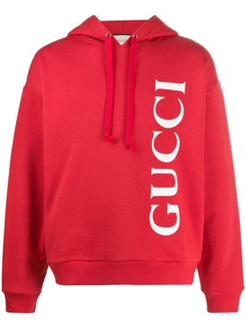 Brick red logo hoodie