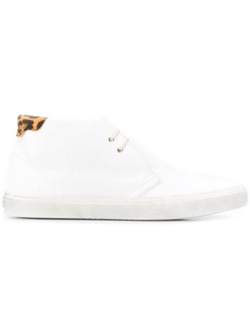 Saint Laurent - Ace White And Leopard Print Sneakers - Men
