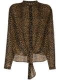 Saint Laurent - Leopard Print Wool Shirt - Women