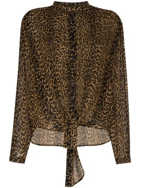 Saint Laurent - Leopard Print Wool Shirt - Women