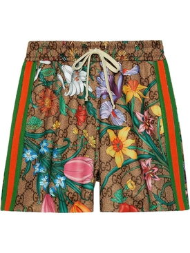 Gucci - Over-sized Floral Shorts - Women