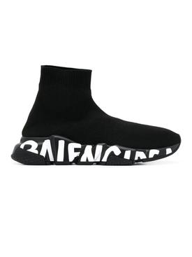 speed knit sneakers BLACK