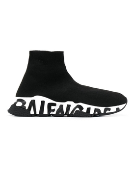 Balenciaga - Speed Knit Sneakers Black & White - Women