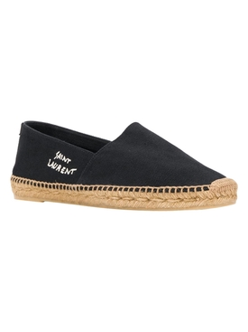 embroidered logo espadrilles Black