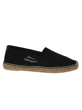 Braided-Jute Espadrille Flat BLACK