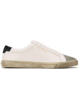 Andy Distressed Low-Top Sneakers White