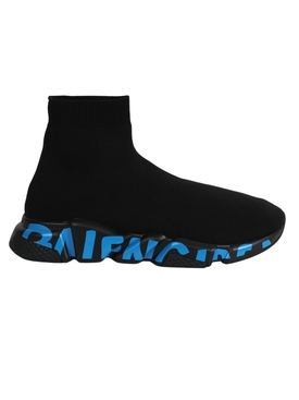 Speed GRAFFITI Sneaker, Black and blue