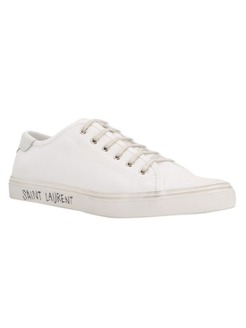White Low-Top Malibu Sneakers