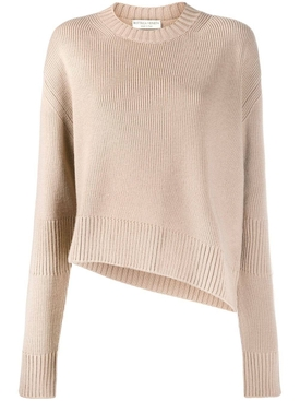 Beige slit sweater