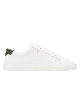 perforated andy low-top sneaker White & Deep Green