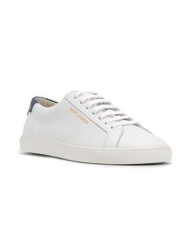 perforated andy low-top sneaker White & Deep Marine