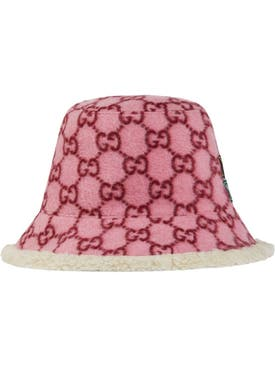 Gucci - Pink Wool Ff Bucket Hat - Women