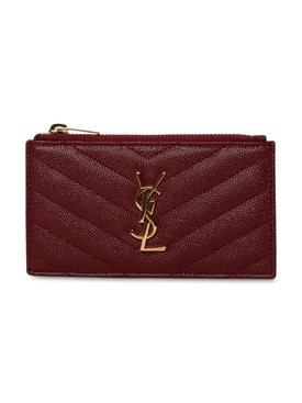 YSL Credit Card Holder OPYUM RED