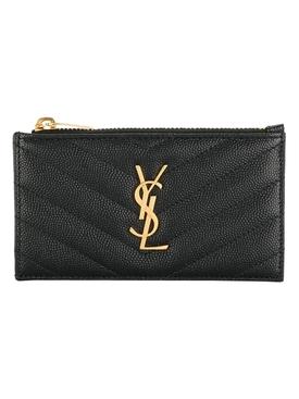 YSL Credit Card Holder NERO