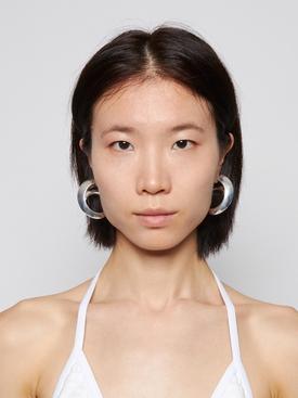 Spiral hoop earrings silver