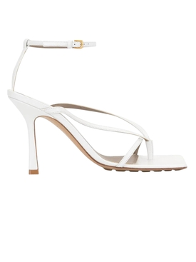 Optic White Stretch Sandals