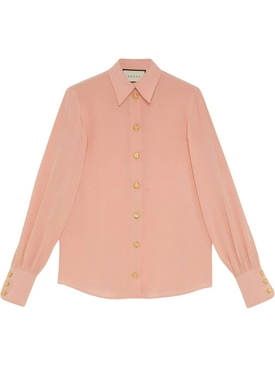 Light Pink Button-Down Blouse