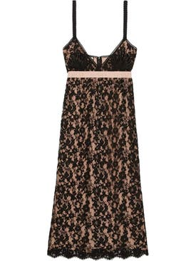 Gucci - Black Lace Mid-length Dress - Women