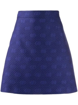 Royal Blue GG A-line Skirt