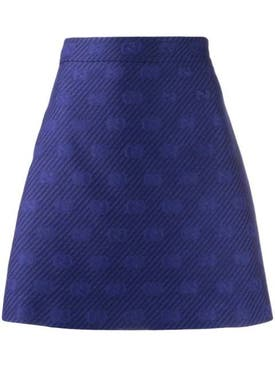 Gucci - Royal Blue Gg A-line Skirt - Women