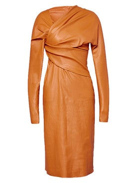 Bottega Veneta - Gathered Midi Dress - Women