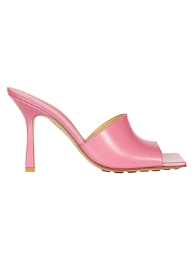Rubber Sole Leather Stretch Mule Sandal FRESIA