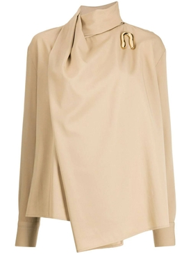 Beige asymmetrical blouse
